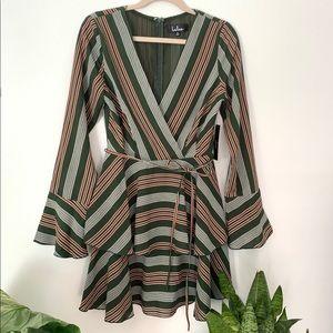 Lulu's • Long Bell Sleeve Mini Dress